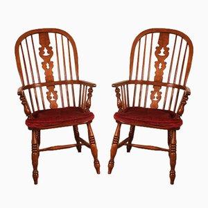 English Windsor Armchairs, 19th Century, Set of 2