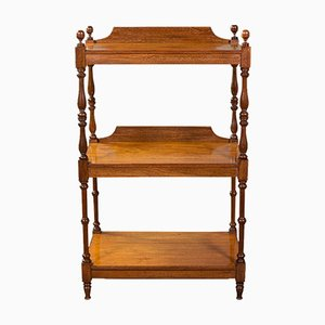 Antique Victorian English 3-Tier Whatnot or Display Buffet in Mahogany