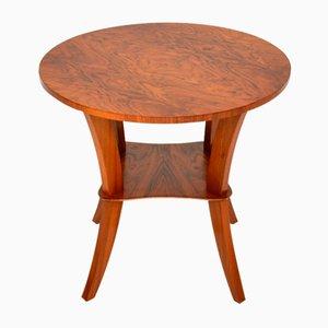 Art Deco Figured Walnut Coffee or Side Table