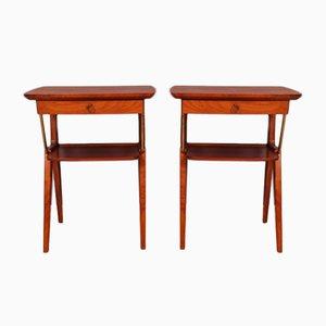 Scandinavian Bedside Tables, 1940s, Set of 2