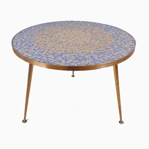 Large Round Mosaic Coffee Table from Berthold Müller, 1950s
