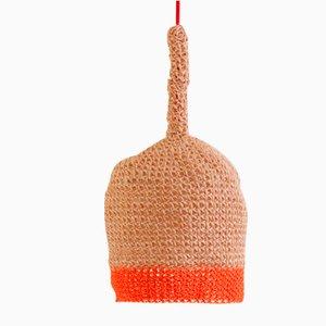 Petite Lampe en Corde Orange par Com Raiz