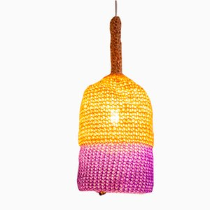 Petite Lampe en Corde Violette par Com Raiz