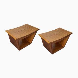 Mid-Century Italian Wooden Stools from Fratelli Rigamonti, 1950s, Set of 2