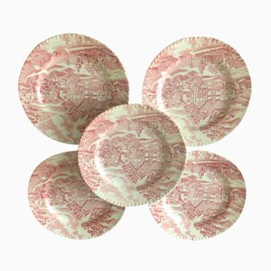 English Style Plates from Luneville, Set of 5