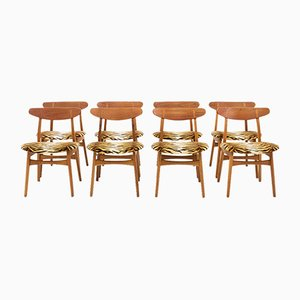 CH30 Chairs in Teak by Hans J. Wegner for Carl Hansen & Søn, 1960s, Set of 8