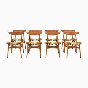 CH30 Stühle aus Teak von Hans J. Wegner für Carl Hansen & Søn, 1960er, 8er Set