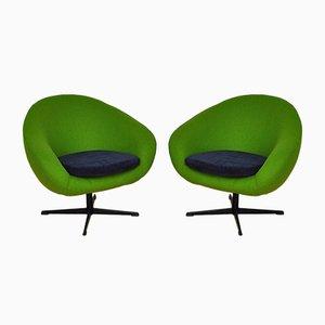 Shell Sessel auf Drehbaren Beinen, 1960er, 2er Set