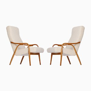 Boucle Armchair by Antonin Suman for TON, 1950s