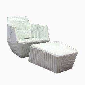 Facett Sessel mit Fußhocker von Ligne Roset, 2er Set