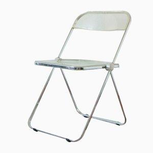 Mid-Century Plia Folding Chair by Giancarlo Piretti for Castelli / Anonima Castelli