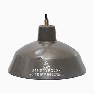 Vintage Industrial Brown Enamel Factory Pendant Lamp