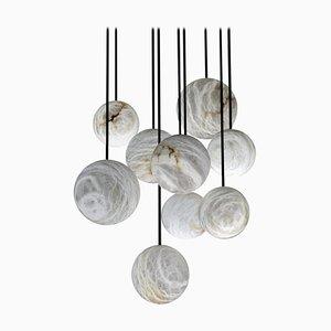 Lámpara de araña Harmony de alabastro de Atelier Alain Ellouz