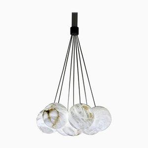 Lámpara de araña Bolky Up de alabastro de Atelier Alain Ellouz