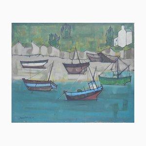 Jacouton, Boats at St. Jean De Luz, France, 1957