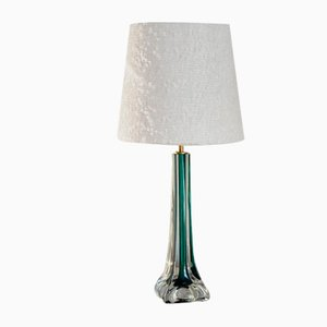 Mid-Century Modern Green Table Lamp by Paul Kedelv for Flygsfors