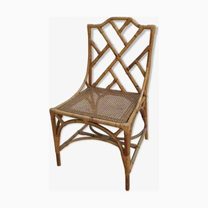 Italian Cane and Bamboo Side Chair from Dal Vera, Italy, 1960s