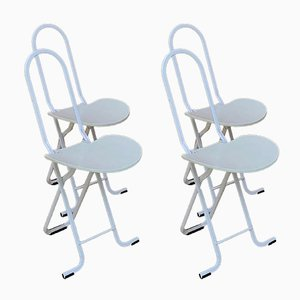 Dafne Folding Chairs by Gastone Rinaldi for Thema, Italy, 1979, Set of 2