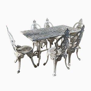 Vintage Victorian Style Garden Dining Set, Set of 7