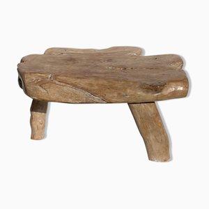 Mesa de árbol orgánica Wabi Sabi brutalista