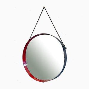 Italienischer runder italienischer Mid-Century Modern Metall Spiegel, 1960er