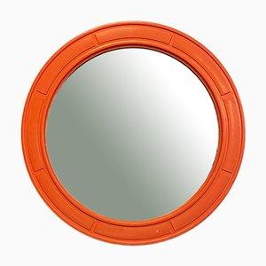 Italian Mid-Century Modern Round Plastic Mirror, 1970s