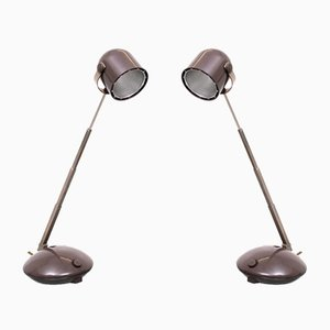 Telescope Bedside Table Lamps from Eichhoff, 1970s, Set of 2