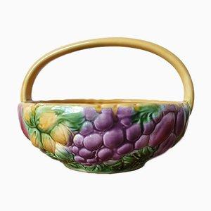 Barbotine Fruit Bowl from Sarreguemines