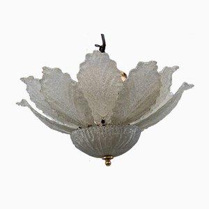 Italian Murano Glass Flower Pendant Lamp, 1960s