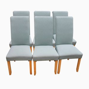 Modern High Back Dining Chairs, 1980s, Set of 6
