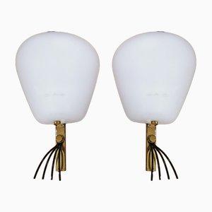 Wandlampen von Angelo Lelli für Arredoluce, 1950er, 2er Set