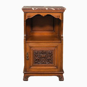 Antique Victorian English Nightstand in Walnut from Gillow & Co,