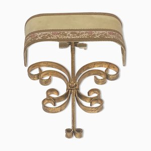 Hollywood Regency Wrought Iron Wall Sconce