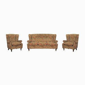 Baroque Armchairs and Sofa, 1950s, Set of 3