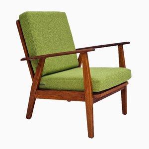 Danish Renovated Armchair in Kvadrat Wool Fabric, 1960s