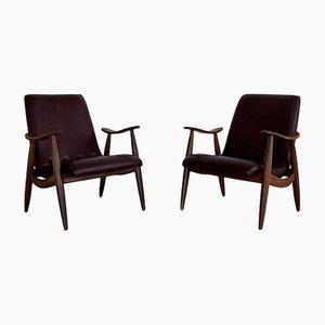 Vintage Sessel von Louis Van Teeffelen für Wébé, 2er Set