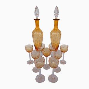 Liqueur Service in Saint Louis Crystal, 1930s, Set of 11