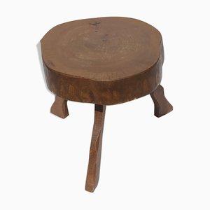 Brutalist Wabi Sabi Tree Trunk Table or Stool