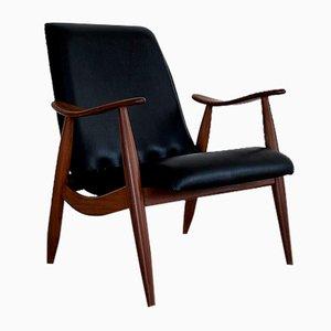 Vintage Teak Sessel von Louis Van Teeffelen für Wébé