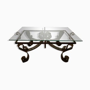 Brutalist Wrought Iron Coffee Table, France