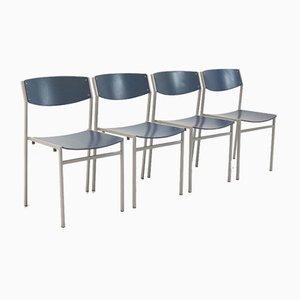 Niederländische Esszimmerstühle von Gijs van der Sluis, 4er Set