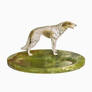 Cold Painted Bronze Borzoi Desk Companion