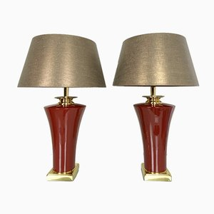 Ceramic Casteliere Table Lamps from Le Dauphin, 1970s, Set of 2