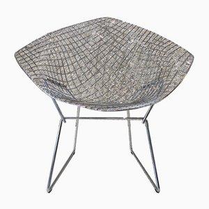 Verchromter Stahl Diamond Stuhl von Harry Bertoia für Knoll