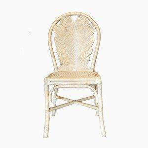 Lackierte Bambus Stühle, 1970er, 4er Set