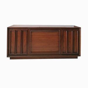 Mid-Century Modern Walnut Sideboard with Inset Handles from Modernage, USA, 1960s