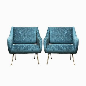Italian Lounge Chairs by Gigi Radice for Minotti, 1960s, Set of 2