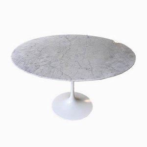 Carrara Marble Tulip Table by Eero Saarinen for Knoll