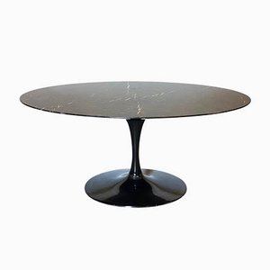 Oval Table in Marble, 1980s