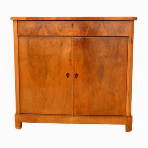 Antique Biedermeier Chest with Two Doors and a Drawer